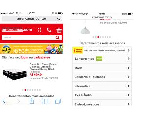 site mobile (web app)