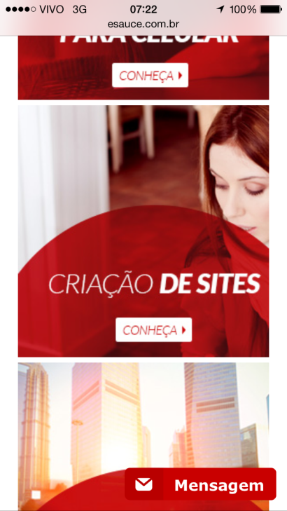 site responsivo celular