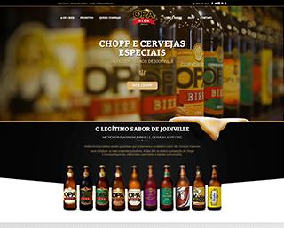 Criação Site Cervejaria Opa Bier Joinville