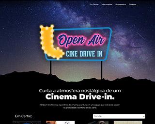 Construção website Cinema drive-in entretenimento