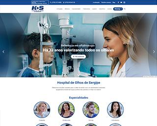 Criacao Site Hospital de Olhos Sergipe