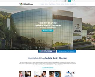 Criação de site para Hospital Sadalla Joinville
