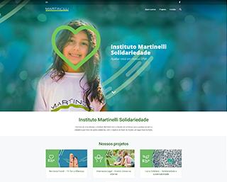 Criação Site Instituto Martinelli Joinville SP Brasil
