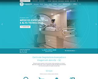 Desenvolvimento Website Clínica Exames Saúde Joinville